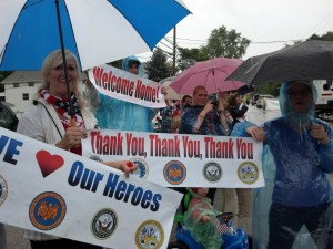 Banners for Our Troops at the Brimfield Veteran's Parade